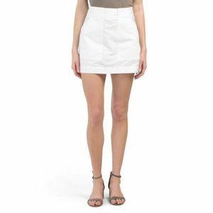 NWT $325 Rag & Bone Wades White Mini Skirt 10